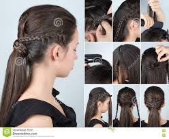 Hair Style With Volume hairstyle ponytail with plait tutorial stock photo image 80192195 8396 by stevesalt.us