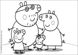 Small Picture Free printable Peppa Pig family coloring page for preschoolers