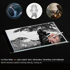 Light Box Drawing Tracing A4 Ultra Thin Portable Led Light Box Drawing Tracer