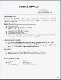 Resume Format For Biotechnology Freshers Resume Formats For