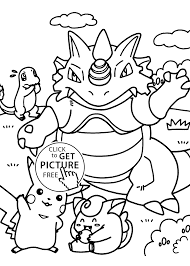 Pokemon Dragon Manga Coloring Pages For Kids Printable Free 7371