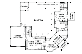 spanish style house plans with interior courtyard house plans associated designs style inner courtyard small with spanish style house plans