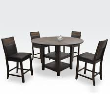 4 person dining room set dining table set dining 5 piece set wood japanese modern dark brown dining set four seat table set cafe table set dining room