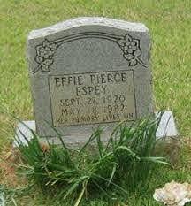 Effie Pierce Espey (1920-1982) - Find A Grave Memorial