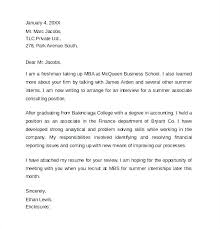 Sample Cover Letter For Summer Internship In Engineering Examples