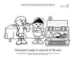 Small Picture Explorer Kids Baked Bread Is Ready Coloring Sheet