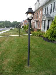 Inverted Gas Light Mantle Post Mounted Westmoreland D Lamps With Dual Inverted Gas