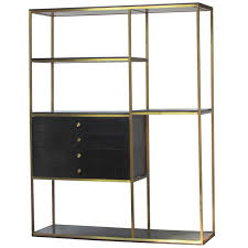 wooden bookcase furniture storage shelves shelving unit. brass u0026 wood shelving unit by furnette from a unique collection of antique and modern wooden bookcase furniture storage shelves s