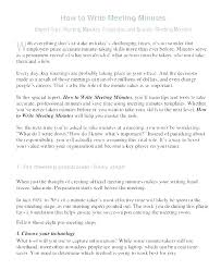 How To Write Meeting Minutes Sample Meeting Minutes Template