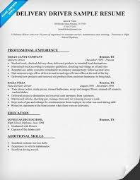 Driver Resume Prepossessing Delivery Driver Resume Sample My Perfect