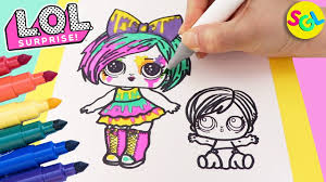 Kids are getting used to working with sheets and books (coloring books). Lol Surprise Hair Goals Splatters Draw Color Makeover Eye Spy Series Coloring Page For Kids Youtube