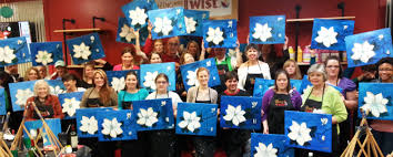 the teal magnolias enjoy painting with a twist
