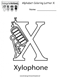 Learn to trace, print, and recognize letters of the alphabet. Letter X Coloring Page Worksheets 99worksheets