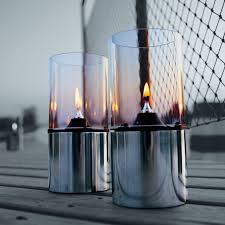 stelton oil lamp with clear glass shade 1005