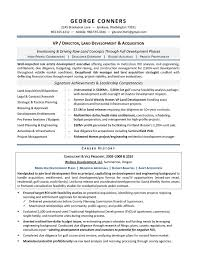 Land Development Manager Sample Resume Executive Resume Writer For