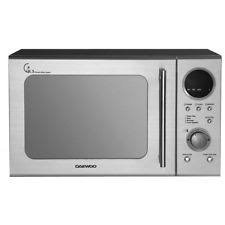 sharp r270slm. daewoo kor3000dsl touch control solo microwave oven, 20 l, 800 w - silver sharp r270slm