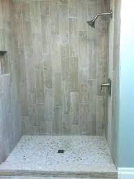 wood look tile in shower showers wood look shower tile wood grain tile with river rock wood look tile in shower