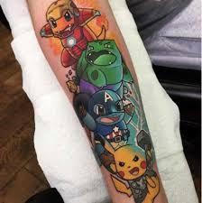 This Pokémon Avengers Tattoo Beamazed