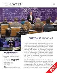 ron j west chrysalis program