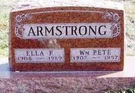 ARMSTRONG, WILLIAM PETER - Madison County, Iowa   WILLIAM PETER ARMSTRONG -  Iowa Gravestone Photos