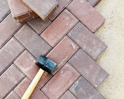 we have a red brick paver patio