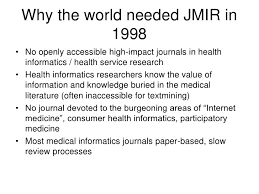 open access publishing the journal of medical internet research