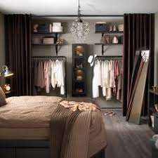 DIY Home Design Medium sized bedroom without a closet Put curtain