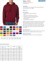 Gildan 18500 Size Chart Hooded Sweatshirt Cuffs Waistband True To Size Apparel