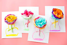 Paper Flower Tissue Paper How To Make Tissue Paper Flower Cards With Video