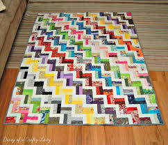 Diary of a Crafty Lady: Finished Zig Zag Scrap Quilt & ... I finished the top ;) Once it was quilted it took me a while to finish  the binding - and so here I am finally posting about my scrappy zig zag  quilt. Adamdwight.com