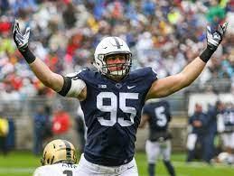 SEE IT: Former Penn State football player Carl Nassib makes game-winning  strip sack on Monday Night Football | Penn State Football News