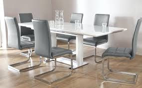 modern white dining room chairs. Dining Table With White Chairs Excellent Glass Within Grey And . Modern Room