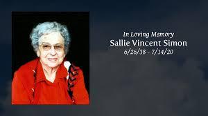 Obituary | Sallie Vincent Simon | VINCENT FUNERAL HOME