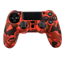 Why Is My Ps4 Controller Light Red Us 1 09 Camouflage Silicone Skin Protective Case Cover For Ps4 Controller Blue Lightgreen Dark Green Red Purple For Ps4 Pro Slim Pad In