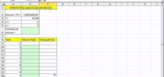 how to make a time schedule in excel how to create an interest only loan schedule in microsoft excel