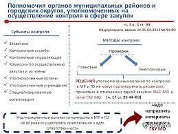 Презентация на тему Главное контрольное управление Московской  5 Полномочия органов муниципальных