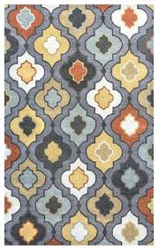 fresh blue and grey rug or downs modern trellis wool rug in blue grey orange white 2 x 3 38 blue rug gray couch