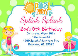 Free Pool Party Invitations Printable Free Printable Pool Party For Girls Invitations Free