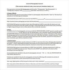Photography Contract Example of Family Photography Contract 100 Photography Contract 2