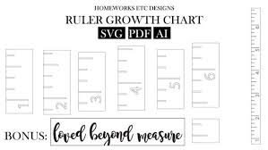 Growth Chart Stencil Designs Ruler Growth Chart Stencil File Diy Svg Pdf Ai