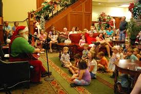 Kids with Santa - Picture of The Inn at Christmas Place, Pigeon ...
