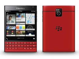 BlackBerry Passport in red and white ...