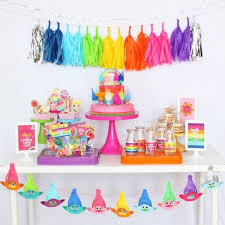 image source trolls birthday party ideas decorations