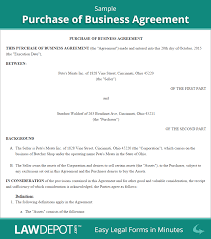 Sample Business Purchase Agreement Purchase Of Business Agreement Template US LawDepot 1