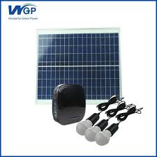 Solar Lighting System Supplier Wgp 20w Portable Mini Rechargeable Home Lighting Solar Power