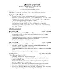 Resume Samples For Clerical Jobs Sidemcicek Com