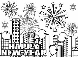 Small Picture New Year Fireworks Coloring Pages GetColoringPagescom