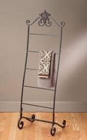 floor towel stand. Standing Towel Rack Examples For Better Bathroom Organization : Free Racks With Wrought Floor Stand