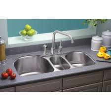 ertone 39 5 x 20 undermount triple bowl kitchen sink