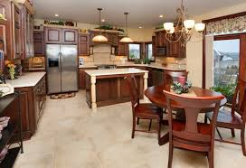 Rich Traditionally Styled Kitchen With Wood Cabinetry.